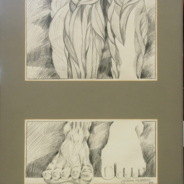 Creation, Sense and Sinew, Pt. I and Pt. II - Pencil (Diptych, Two Pictures)